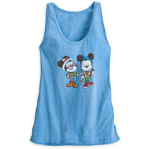 Mickey and Minnie Mouse ''Castle Coffee Break'' Tank Tee for Women