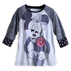 CL Minnie Mouse Raglan Tee for Women, sizes vary