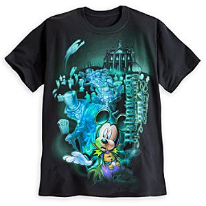 Mickey Mouse Haunted Mansion Tee for Adults - Walt Disney World - Halloween 2014