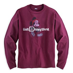 Santa Mickey Mouse Long Sleeve Tee for Men - Walt Disney World