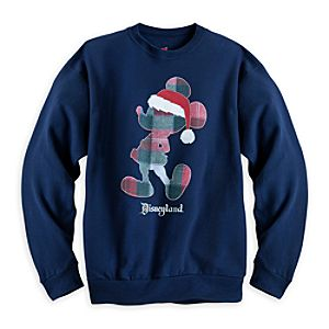 Santa Mickey Mouse Sweatshirt for Men - Disneyland