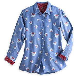 Minnie Mouse Chambray Shirt for Women