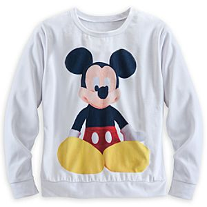 Mickey Mouse Plush Pullover Top for Women