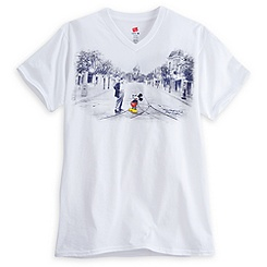 Mickey Mouse and Walt Disney V-Neck Tee for Adults - Walt Disney World