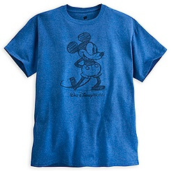 Mickey Mouse Tee for Adults - Walt Disney World - Blue