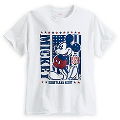 Mickey Mouse Americana Tee for Adults - Disneyland