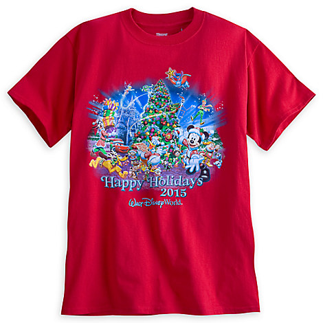 Santa Mickey Mouse and Friends Holiday 2015 Tee for Adults - Walt ...