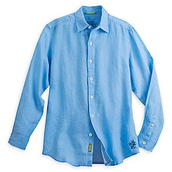 Mickey Mouse Long Sleeve Linen Shirt for Men by Tommy Bahama