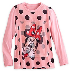 Minnie Mouse Polka Dot Long Sleeve Tee for Women