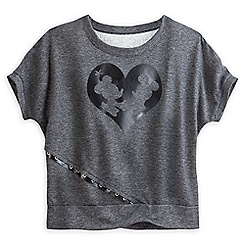 Mickey and Minnie Mouse Dolman Cut Tee for Women - Gray - Disney Boutique