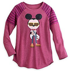 Hipster Mickey Mouse Long Sleeve Tee for Women - Disney Boutique