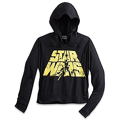 Star Wars Long Sleeve Hooded Fashion Tee for Women