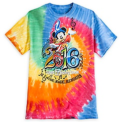 Sorcerer Mickey Mouse Tie-Dye Tee for Adults - Walt Disney World 2016