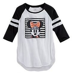 Minnie Mouse Raglan Baseball Tee for Women - Disney Boutique