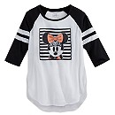 Minnie Mouse Raglan Baseball Tee for Women