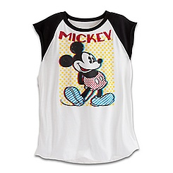 Mickey Mouse Sleeveless Raglan Tee for Women - Disney Boutique