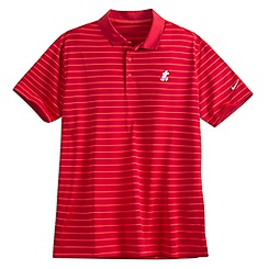 Mickey Mouse Striped Polo Shirt for Men by Nike Golf - Red