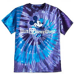 Mickey Mouse Tie-Dye Tee for Adults - Purple & Blue - Walt Disney World