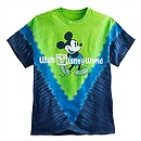 Mickey Mouse Tie-Dye Tee for Adults - Blue & Green - Walt Disney World