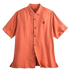 Mickey Mouse Woven Shirt for Men by Tommy Bahama - Orange