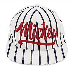 Mickey Mouse Striped Baseball Cap for Adults