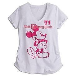 Mickey Mouse Slub V-Neck Tee for Women - Walt Disney World - Disney Boutique