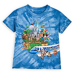 Walt Disney World Tee for Toddler Boys - Tie Dye Storybook