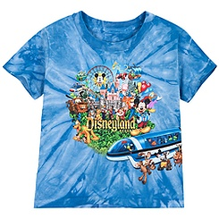 Tie Dye Storybook Disneyland Tee for Toddler Boys