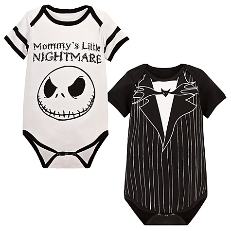 Jack Skellington Bodysuit for Babies -- 2-Pc.