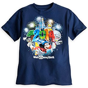 Sorcerer Mickey Mouse and Friends Tee for Boys - Walt Disney World 2014 - Navy