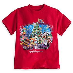 Santa Mickey Mouse and Friends Tee for Boys - Holiday 2014 - Walt Disney World