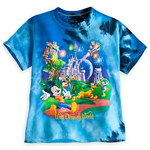 Mickey Mouse and Friends Storybook Tie-Dye Tee for Toddlers - Walt Disney World
