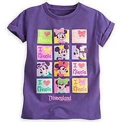 Minnie Mouse Cuffed Tee for Girls - Disneyland