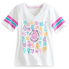 Disney Character V-Neck Tee for Girls - Disneyland