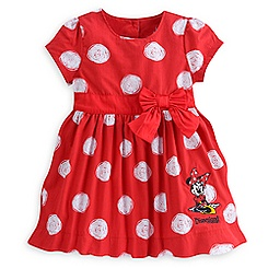 Minnie Mouse Woven Dress for Girls - Disneyland