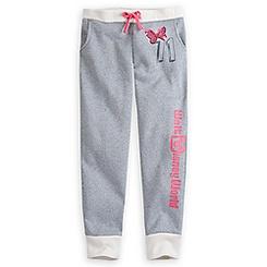 Minnie Mouse Silver Sweatpants for Girls - Walt Disney World