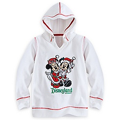 Mickey and Minnie Mouse Holiday Hoodie for Girls - Disneyland