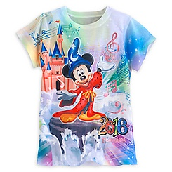 Sorcerer Mickey and Friends Sublimated Tee for Girls - Disneyland 2016