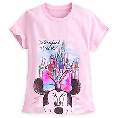 Minnie Mouse at Sleeping Beauty Castle Tee for Girls - Disneyland