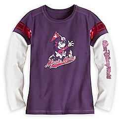 Minnie Mouse Collegiate Long Sleeve Tee for Girls - Walt Disney World