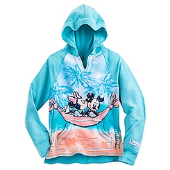 Mickey and Minnie Mouse Pullover Hoodie for Girls - Walt Disney World