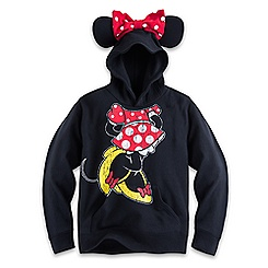 Minnie Mouse Hoodie with Ears for Girls