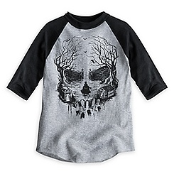 Hatbox Ghost Baseball Tee for Boys - The Haunted Mansion