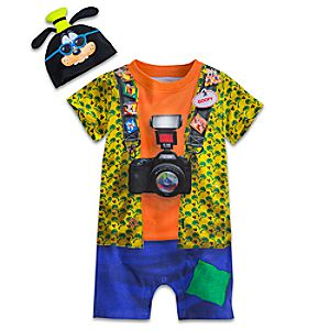 Goofy Costume Coverall and Cap for Baby