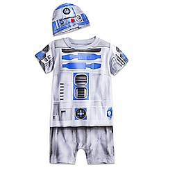 R2-D2 Costume Coverall with Cap for Baby