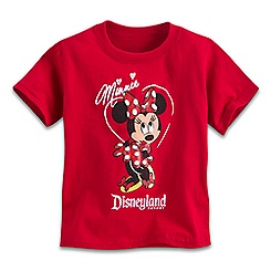 Minnie Mouse Glitter Tee for Toddlers - Disneyland