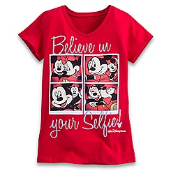 Mickey and Minnie Mouse Selfie Tee for Girls - Walt Disney World