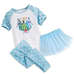 Anna and Elsa Three-Piece Pajama Set for Girls - Walt Disney World