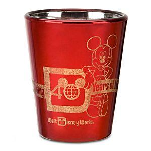 Tooth Pick Holder 40th Anniversary Walt Disney World Glass