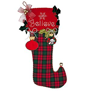 Jumbo Plush Santa Mickey Mouse Stocking